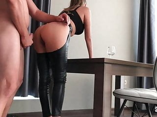 Latex Teen is Squrting Hard while her ASS Filled with Cum